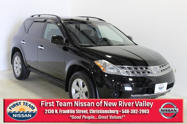 First Team Nissan >> Pre Owned 2007 Nissan Murano Se 4d Sport Utility In Roanoke